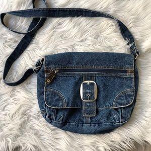Handbags - Vintage denim crossbody bag